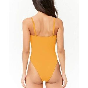 Swim - Forever 21 Tie-Front One-Piece Swimsuit